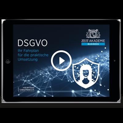 »DSGVO«-Seminar Online Seminar